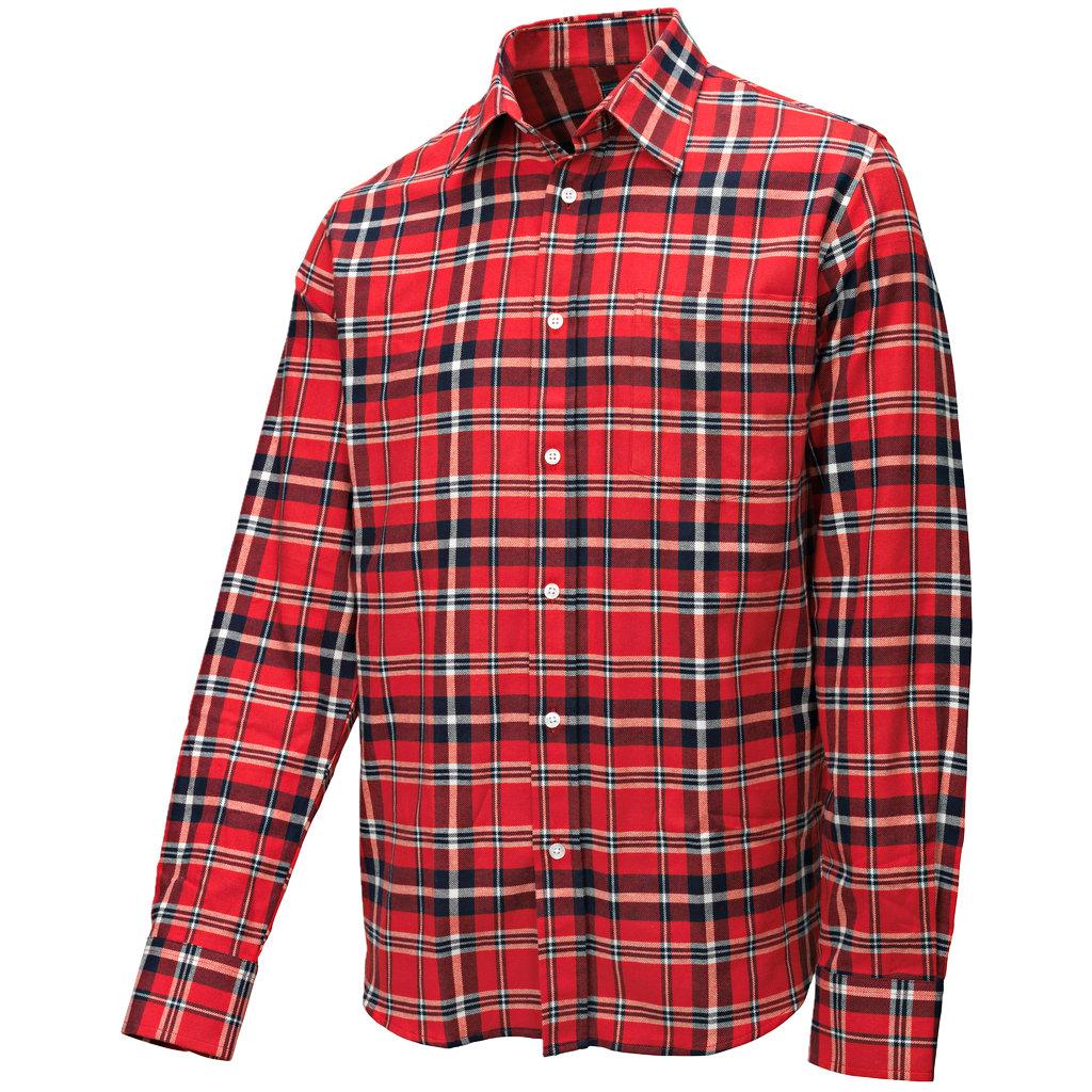 Foret Flanellskjorte RødMarineblå